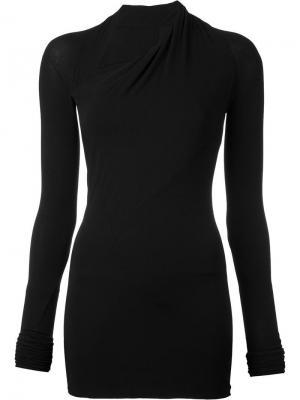 Блузка с асимметричной горловиной Urban Zen. Цвет: чёрный