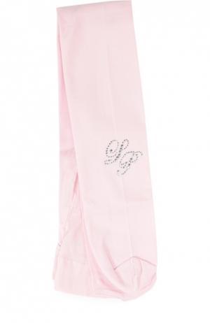 Колготки со стразами La Perla. Цвет: розовый
