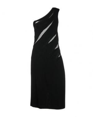 Платье до колена AZZARO. Цвет: черный