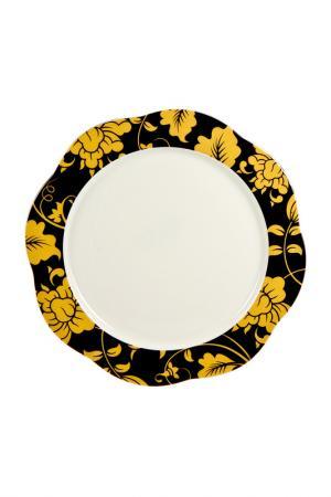 Тарелка круглая 16 см 6 шт. Royal Porcelain. Цвет: желтый, черный