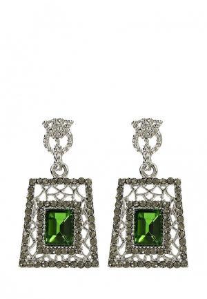 Серьги Taya. Цвет: зеленый