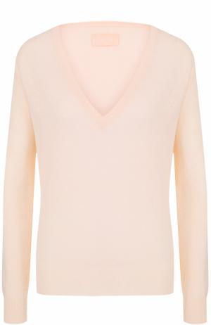 Кашемировый пуловер с V-образным вырезом Zadig&Voltaire. Цвет: светло-розовый