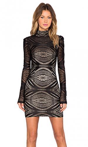 Платье langston AGAIN. Цвет: черный
