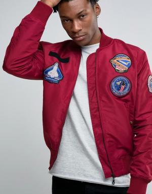 Abuze London Куртка-пилот. Цвет: коричневый