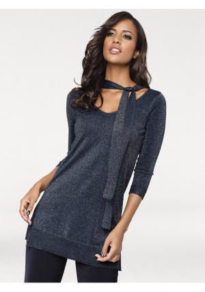 Пуловер PATRIZIA DINI. Цвет: темно-синий