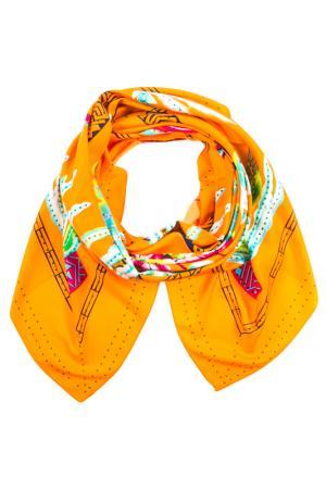 Платок Vita Pelle. Цвет: оранжевый, голубой