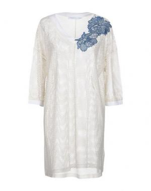 Короткое платье LA FABBRICA del LINO. Цвет: слоновая кость