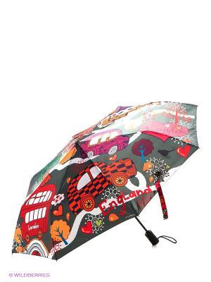 Зонт Flioraj. Цвет: красный, черный