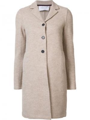 Однобортное пальто Harris Wharf London. Цвет: телесный