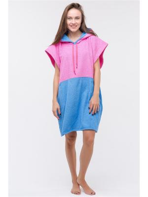 Серфпончо Mavericks Pink/Blue, размер S Wonderhood. Цвет: голубой, розовый