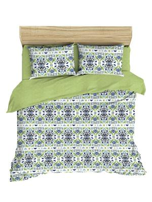 Комплект постельного белья Последний богатырь из ранфорса 2 спальный Василиса. Цвет: синий, зеленый