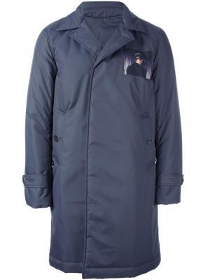 Однобортное пальто Undercover. Цвет: синий
