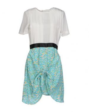 Короткое платье DRESS GALLERY. Цвет: бирюзовый