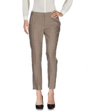 Повседневные брюки NIU'. Цвет: светло-серый