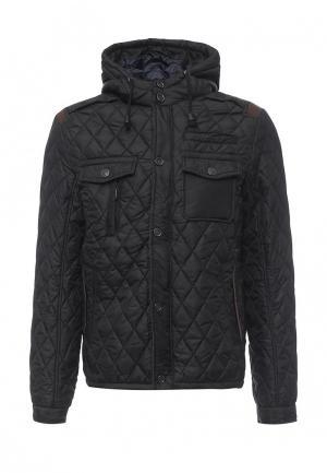 Куртка утепленная Justboy. Цвет: черный