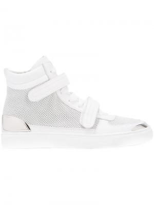 Double stap hi-top sneakers Louis Leeman. Цвет: белый