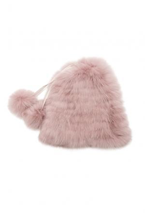 Шапка из меха лисы 153812 Flo & Clo. Цвет: розовый