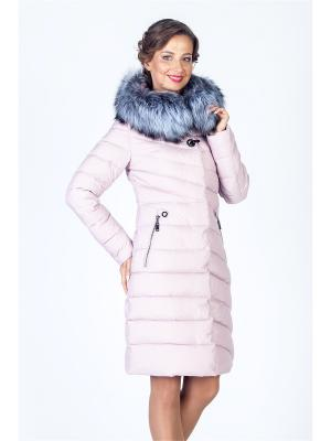 Пальто FREYA. Цвет: розовый