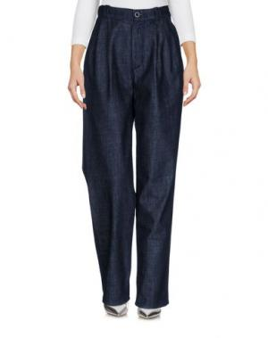 Джинсовые брюки BARK. Цвет: синий