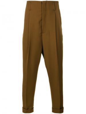 Классические брюки Haider Ackermann. Цвет: коричневый