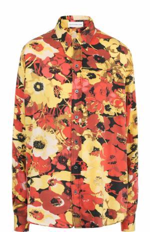 Шелковая блуза с цветочным принтом Faith Connexion. Цвет: разноцветный