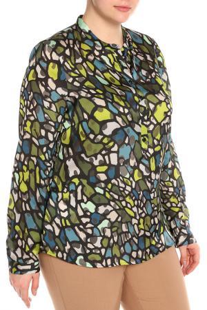Рубашка-блузка Krizia. Цвет: салатовый, зеленый, серый
