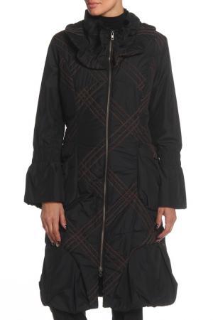 Пальто Enjoy. Цвет: черный, коричневый