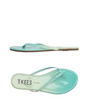 Вьетнамки TKEES. Цвет: светло-зеленый