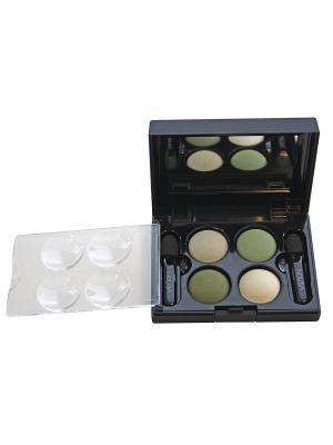 Тени для век КватроQuattro Eyeshadow Mat 640, 2,4г NOUBA. Цвет: белый, бежевый, зеленый
