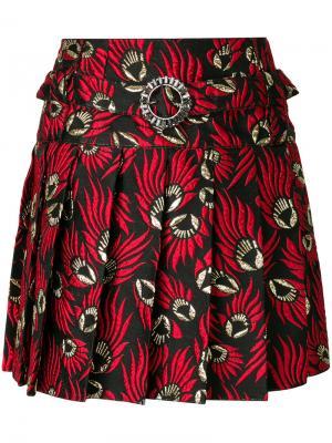 Жаккардовая плиссированная юбка Dolce & Gabbana. Цвет: красный