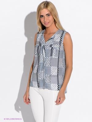 Блузка VOI JEANS. Цвет: черный, белый, светло-серый