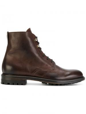 Сапоги со шнуровкой Doucals Doucal's. Цвет: коричневый
