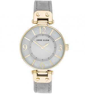 Часы с тонким замшевым ремешком Anne Klein