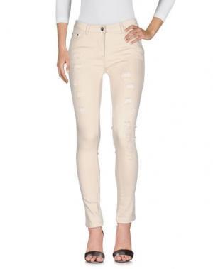 Джинсовые брюки SWEET SECRETS. Цвет: бежевый