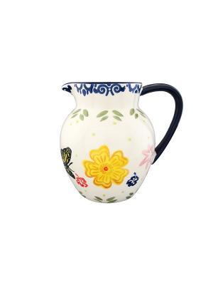 Кувшин Бабочки Elan Gallery. Цвет: белый, синий, желтый