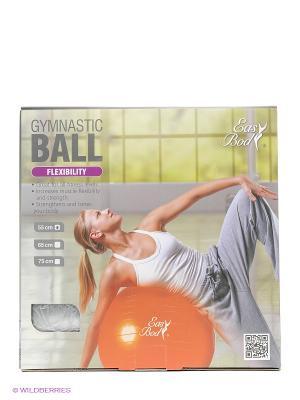 Мяч гимнастический, 55 см Easy Body. Цвет: серый