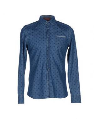 Джинсовая рубашка EXIBIT. Цвет: синий