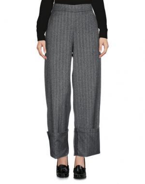 Повседневные брюки PAOLO CASALINI. Цвет: стальной серый