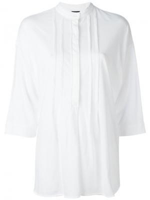 Рубашка с узким воротником-стойкой Aspesi. Цвет: белый