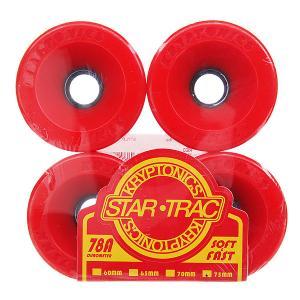 Колеса для скейтборда лонгборда  Star Trac Premium Red 78A 75 mm Kryptonics. Цвет: красный