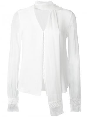 Блузка с V-образным вырезом Jonathan Simkhai. Цвет: белый