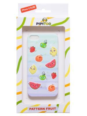 Чехол-накладка Fruit для iPhone 5/5s/SE Pipitoo. Цвет: голубой