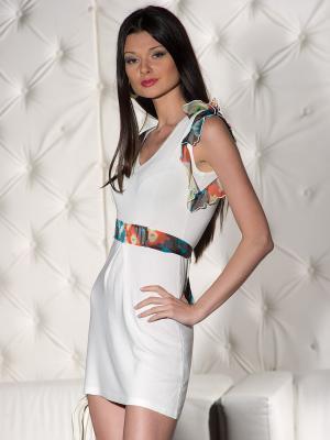 Платье Yuka. Цвет: кремовый