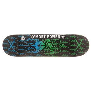 Дека для скейтборда  S6 Rhm Axis Green Fade 31.8 x 8.125 (20.6 см) Darkstar. Цвет: черный,голубой,зеленый