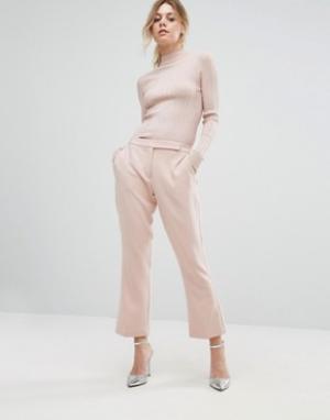 Closet London Строгие брюки. Цвет: розовый
