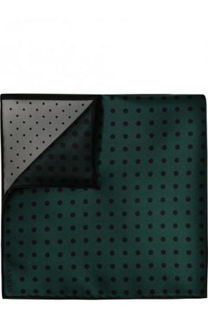 Шелковый платок с узором Lanvin. Цвет: зеленый
