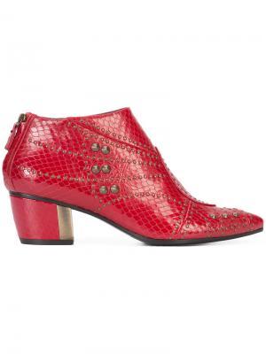Ботинки с заклепками Rodarte. Цвет: красный