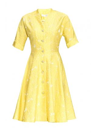 Платье из вискозы 163228 Anna Verdi. Цвет: желтый