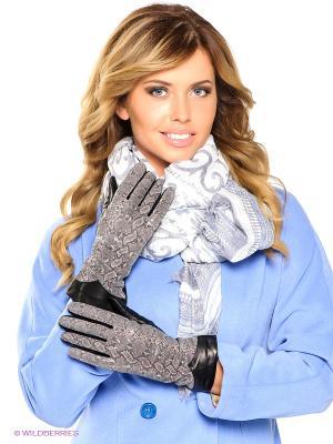 Перчатки Eleganse. Цвет: серый, черный