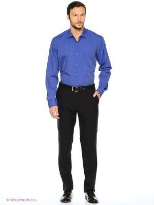 Рубашка KARFLORENS. Цвет: индиго, темно-синий